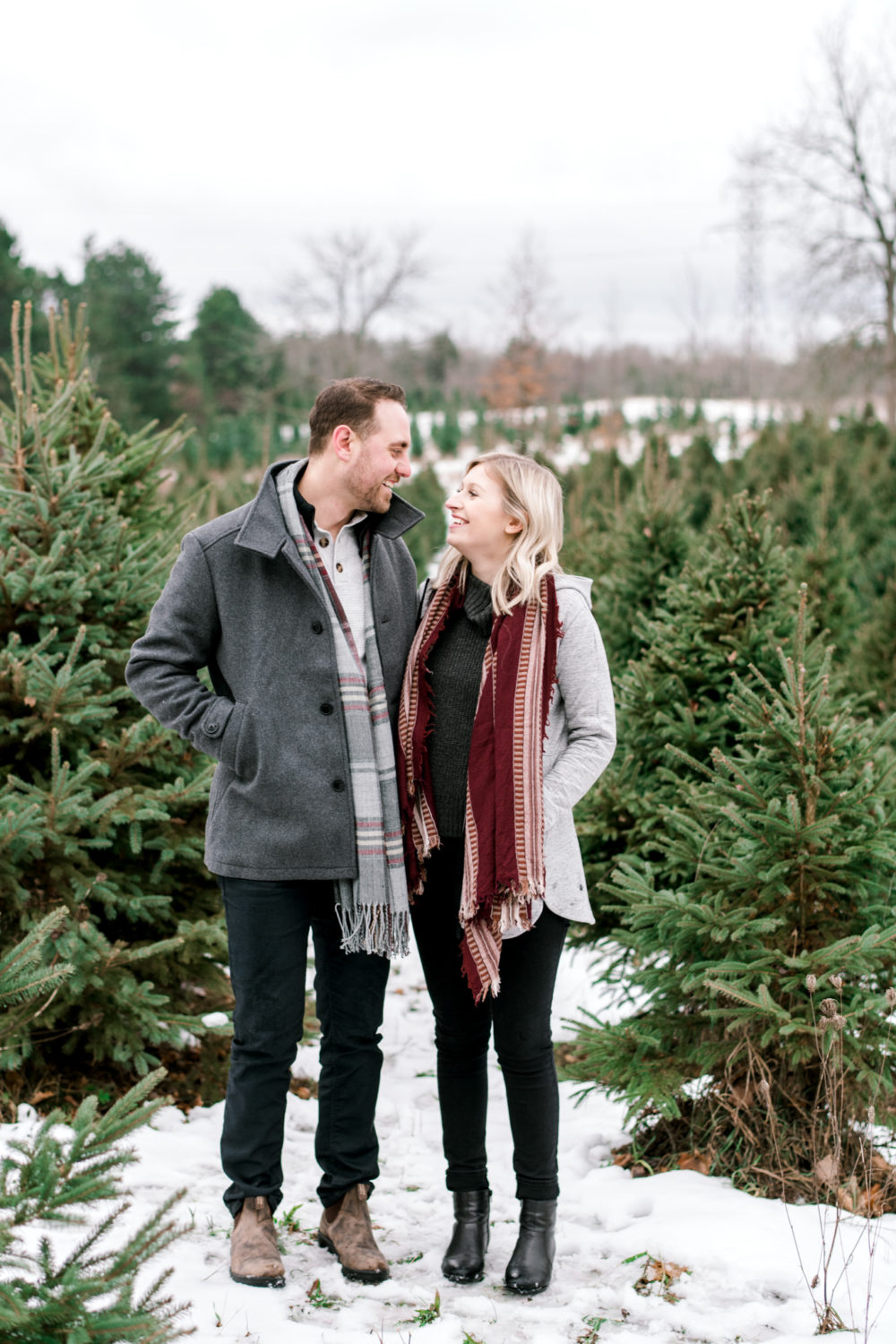 Christmas Tree Farm Engagement Session Emily Jean Photography